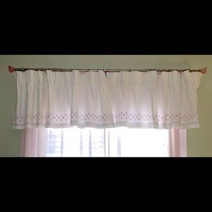 Pottery Barn Kids Embroidered Valance